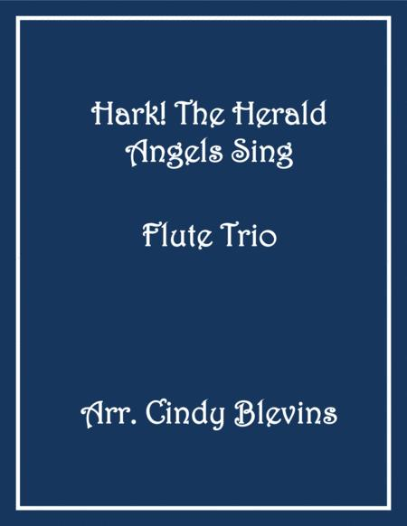 Hark! The Herald Angels Sing, for Flute Trio