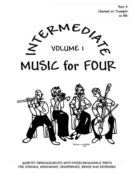 Intermediate Music for Four, Volume 1  Part 3 for Clarinet or Trumpet in Bb - #72133