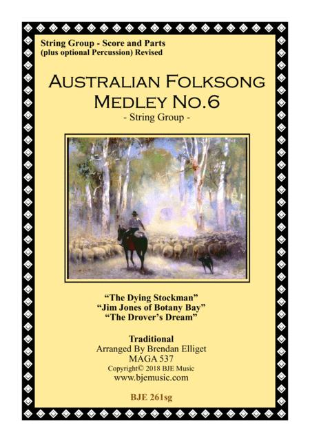 Australian Folksong Medley No. 6 - String Group (Optional Percussion)