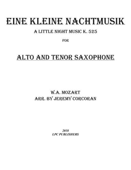 Eine Kleine Nachtmusik for Alto and Tenor Saxophone