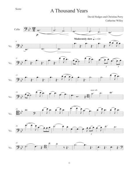 A Thousand Years - Solo Cello