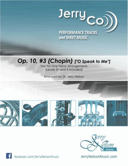 Opus 10, #3 (Chopin) [