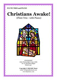 Christians Awake [Bb] - Flute Trio with Piano Accompaniment Score and Parts PDF