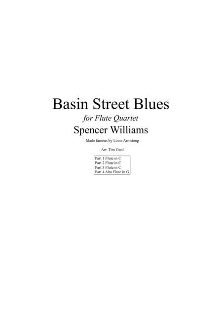Basin Street Blues for Flute Quartet