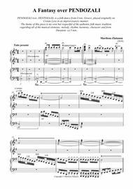 A Fantasy over PENDOZALI, for 4 hands, one piano