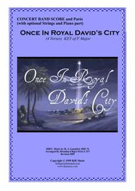 Once In Royal David's City Concert Band with Optional Strings and Piano PDF