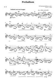Karol Szymanowski - Prelude Op. 1 No. 1, transcr. for guitar