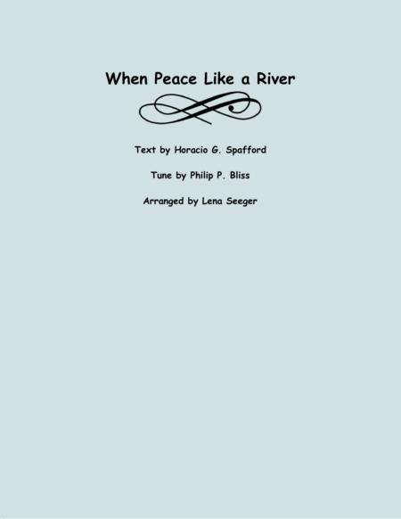 When Peace Like a River (Viola and Piano)