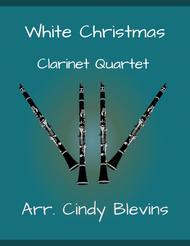 White Christmas, for Clarinet Quartet