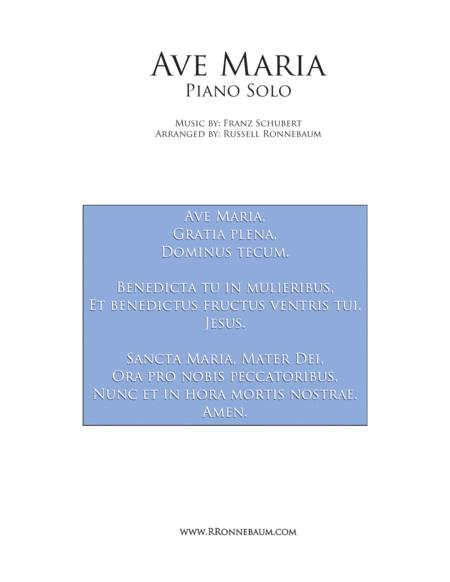 Schubert: Ave Maria (Piano Solo)