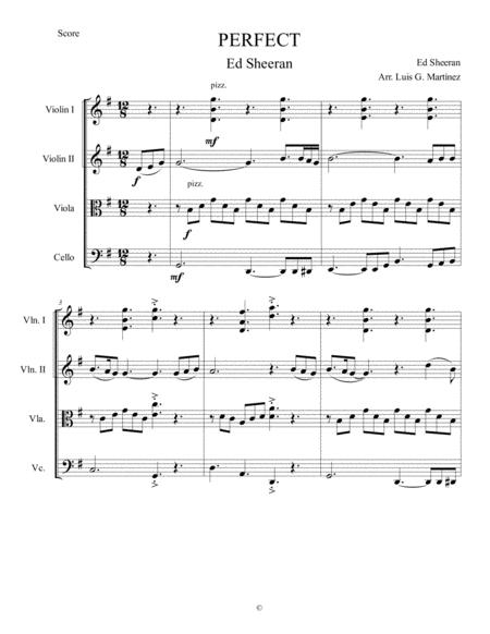 PERFECT for String Quartet (Score And Parts)