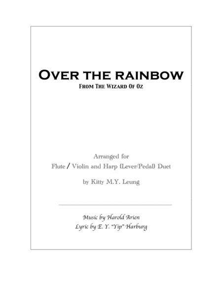 Over The Rainbow - Violin / Flute and Harp Duet