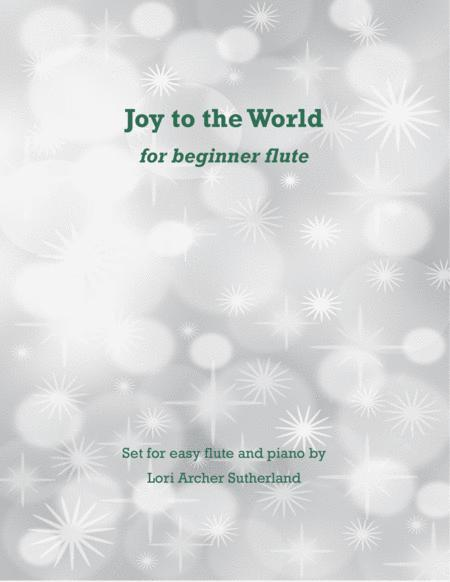 Joy to the World for beginner flute & piano