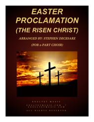 Easter Proclamation (The Risen Christ) (for 2-part choir)