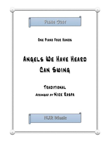 Angels We Have Heard Can Swing (1 piano 4 hands) early intermediate