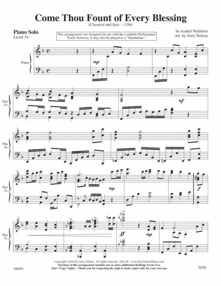 Come Thou Fount (2 for 1 Arrangements) – Hymn / Jazz