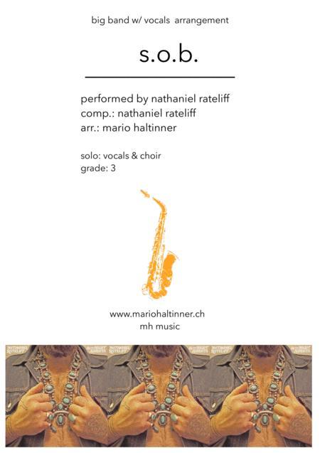 S.O.B. - Nathaniel Rateliff - Jazz Ensemble w/ vocals - score & parts