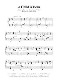 A Child Is Born (piano arrangement)