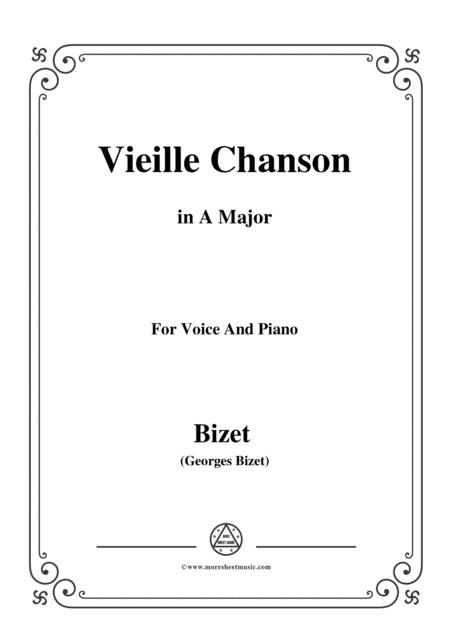 Bizet-Vieille Chanson in A Major,for voice and piano