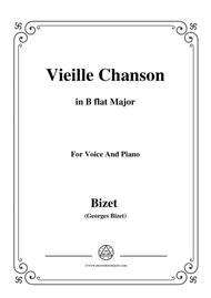 Bizet-Vieille Chanson in B flat Major,for voice and piano