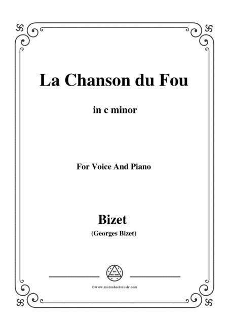 Bizet-La Chanson du Fou in c minor,for voice and piano