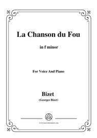 Bizet-La Chanson du Fou in f minor,for voice and piano