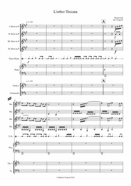 Monteverdi - L'orfeo Toccata Arrangement