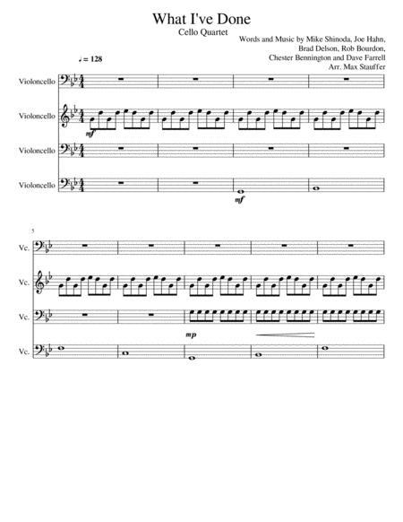 Linkin Park - What I've Done - Cello Quartet