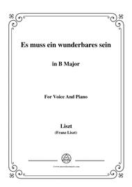 Liszt-Es muss ein wunderbares sein in B Major,for voice and piano