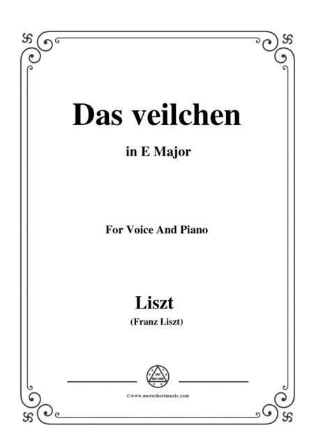 Liszt-Das veilchen in E Major,for voice and piano