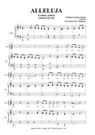 ALLELUJA (Exsultate, jubilate K.165) - Mozart - Arr. for Alto and Organ - (in C)