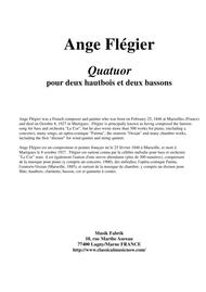 Ange Flégier: Quatuor for two oboes and two bassoons