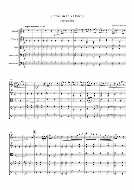 Bartok Romanian Dances