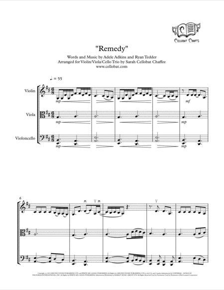 Download Remedy String Trio Violin Viola Cello Adele
