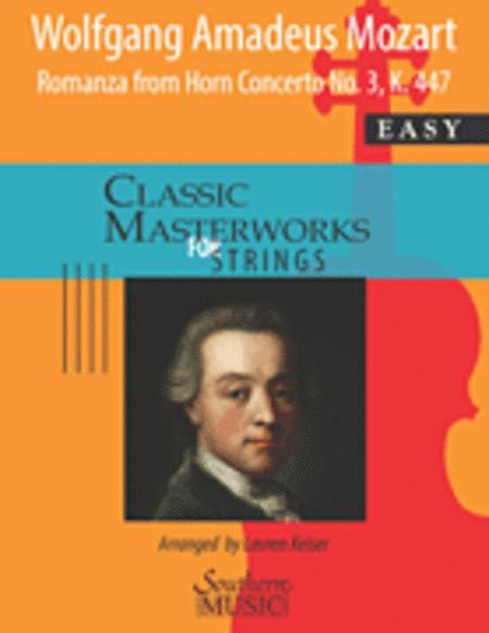 Romanza from Horn Concerto No.3, K447 for String Orchestra