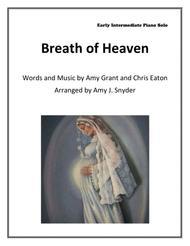 Breath Of Heaven (Mary's Song), easy piano solo