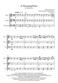 Christina Perri: A Thousand Years - String Trio (Vln1, Vln2, Vc)