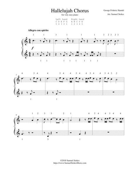 Hallelujah Chorus from Handel's Messiah - for very easy piano