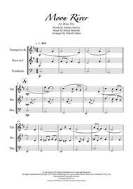 Moon River - Brass Trio