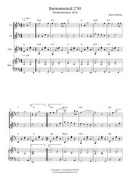Melodious Instrumental Interlude 2'30 in D for 2 flutes, guitar and/or piano by Simon Peberdy