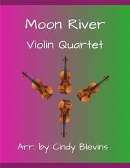 Moon River, for Violin Quartet
