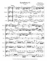 Boyce Symphony #1, 1st Mvt. for String Quartet