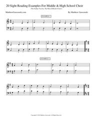 Download 20 Sight-Reading Examples (Intermediate Middle School-High