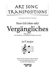 Vergängliches, Op. 33 no. 1 (F major)