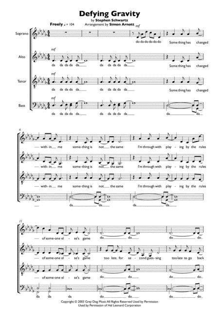 Defying Gravity - SATB