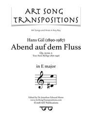 Abend auf dem Fluss, Op. 33 no. 5 (E major)