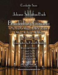 Bach - Brandenburg Concerto No. 3 (for Clarinet Quartet & Optional Organ)