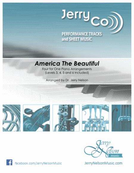 America the Beautiful-v1  (4 for 1 PIANO Standalone Arr's)