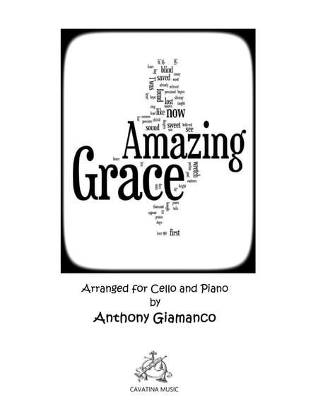 Amazing Grace (cello solo and piano) - Score & part