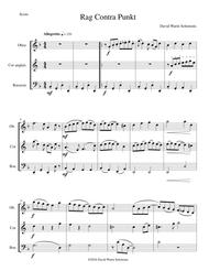 Rag contra punkt for double-reed trio (oboe, cor anglais, bassoon)